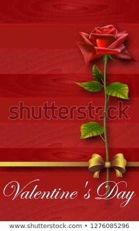 ギフト · 赤 · 弓 · 休日 · 金 - ストックフォト © LynneAlbright