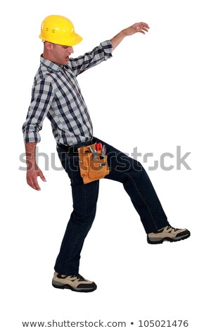 Tradesman walking across a tightrope Stock photo © photography33