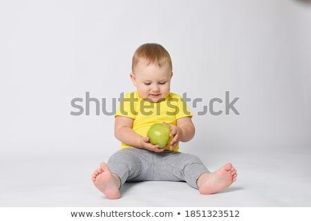 manzana · seducción · cóctel · hielo · aislado · blanco - foto stock © alexandkz
