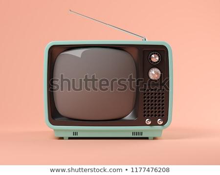 Klasszikus tv technológia film képernyő fekete Stock fotó © ozaiachin