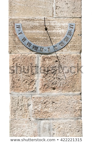 Relógio de sol parede romano numerais igreja relógio Foto stock © samsem
