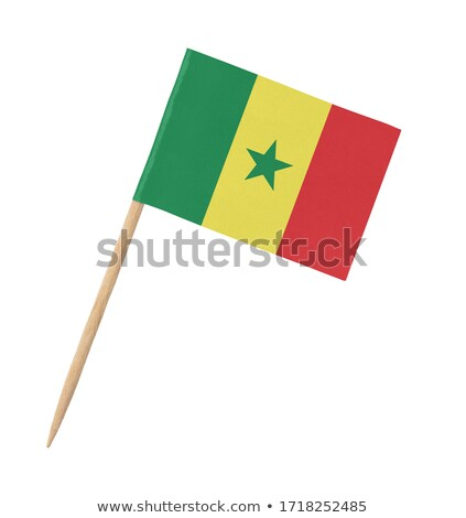 Miniatura bandiera Senegal isolato riunione Foto d'archivio © bosphorus