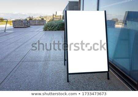 lege · witte · billboard · trottoir · business · weg - stockfoto © tashatuvango