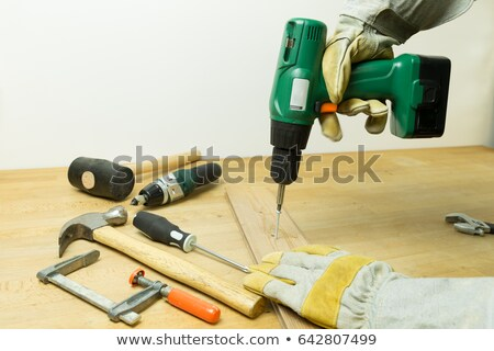 Worker with a cordless power drill Stock photo © photography33