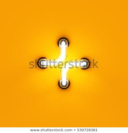 Mathematical signs set from neon light Stock photo © deyangeorgiev