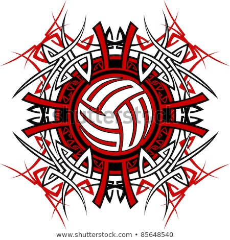 Volleyball Tribal Graphic Image Foto stock © ChromaCo