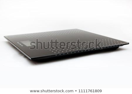 Fürdőszoba digitális mérleg fehér absztrakt vektor Stock fotó © robertosch