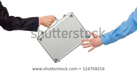 Transferir plata metal caso mano aislado Foto stock © vlad_star