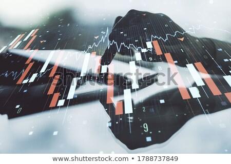 econômico · homem · terno · sessão · tabela - foto stock © grazvydas