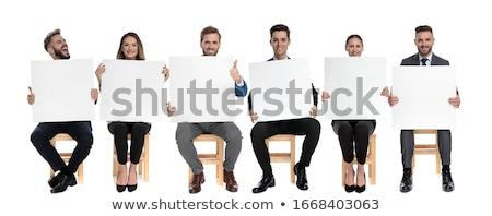 笑みを浮かべて ビジネスマン ホワイトボード ビジネスの方々  男性 ストックフォト © wavebreak_media