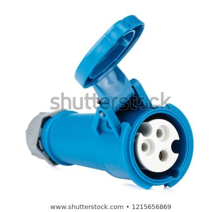 wideo · szczegóły · odizolowany · biały · technologii · niebieski - zdjęcia stock © len44ik