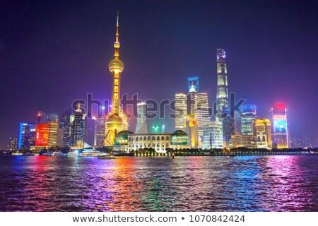 Sjanghai · tv · toren · nacht · kant · shot - stockfoto © billperry