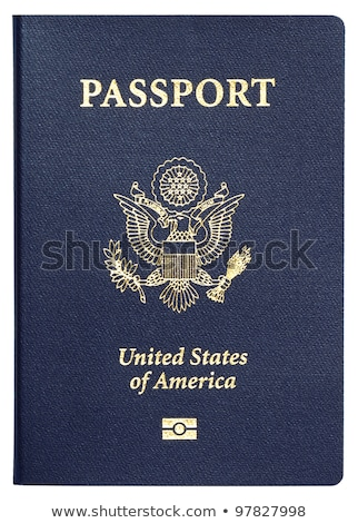 aislado · americano · pasaporte · EUA · blanco · edad - foto stock © eldadcarin