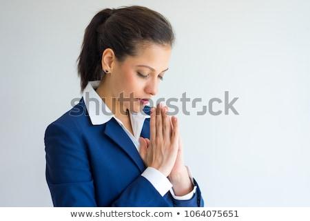 femminile · executive · pregando · bianco · triste - foto d'archivio © feedough