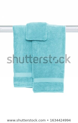 Bath towels hang on the shelf Stock photo © zzve