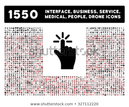 Medical black and red icon set Stock photo © Filata