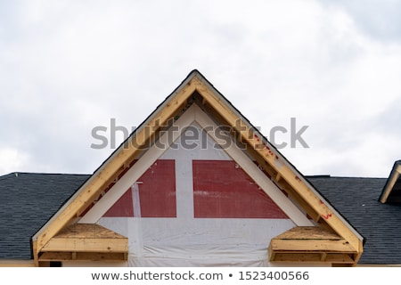 american residential wooden house contruction stock photo © lunamarina