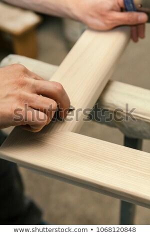 плотник · рук · молота · древесины · ногтя - Сток-фото © photography33
