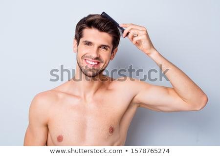 Topless moda homem bom penteado jovem Foto stock © feedough