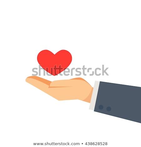 healthy life logo- abstract man shaped like a heart Stock photo © shawlinmohd
