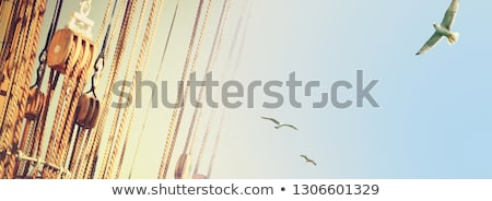 eski · deniz · deniz · mavi · gökyüzü · gökyüzü · su - stok fotoğraf © lunamarina