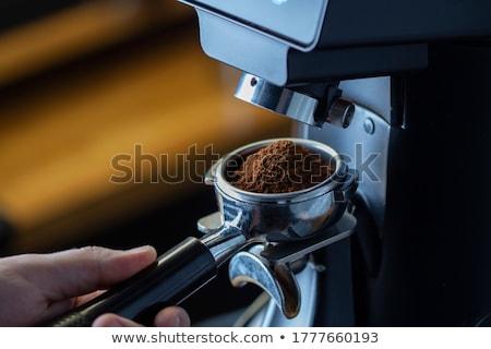 kahve · öğütücü · fincan · bağbozumu · kahve · çekirdekleri - stok fotoğraf © marcelozippo