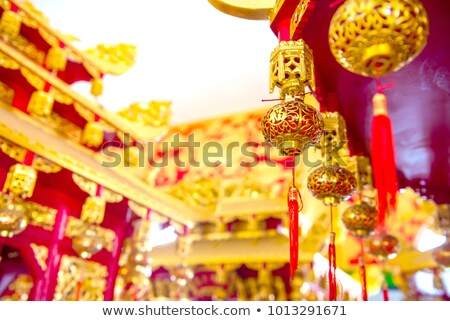 traditional lucky wishes in chinese temple Stock photo © travelphotography
