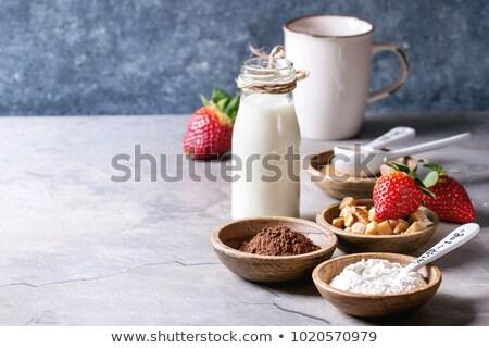 Harina mujer cocción alimentos mano Foto stock © Lighthunter