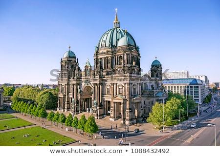 Berlijn · nacht · huis · gebouw · straat · kerk - stockfoto © photocreo