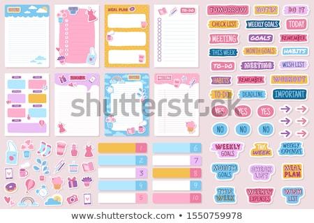 Memorando adesivo cor adesivos isolado branco Foto stock © keko64