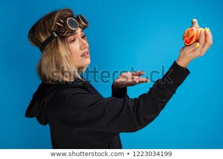 Portré vonzó gőz goth lány piros Stock fotó © pxhidalgo