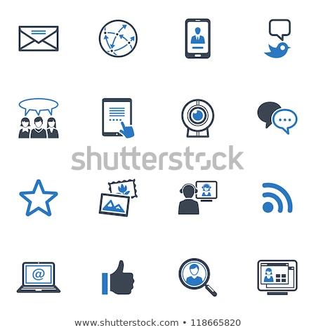 magnifying glass with speech bubble icon stock photo © tashatuvango