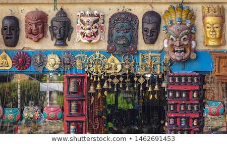Tibetan hand carved mask Stock photo © papa1266