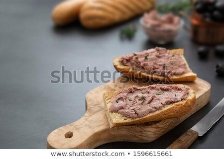canape bread and meat stock photo © m-studio