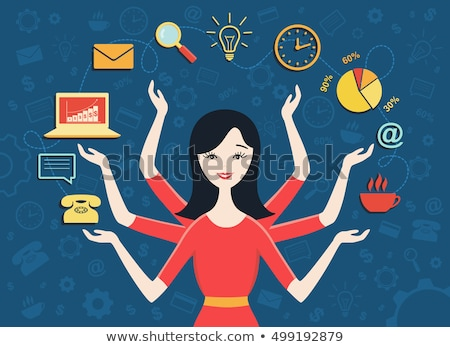 Woman multitasking Stock photo © photography33