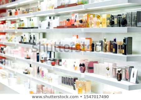 Parfumerie bouteille blanche toilettes belle glamour Photo stock © reticent