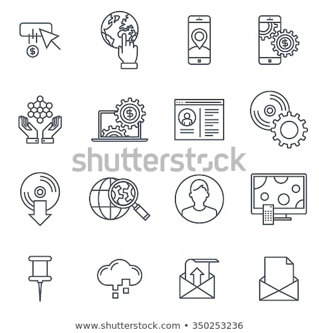 black software icons stock photo © SergeyT