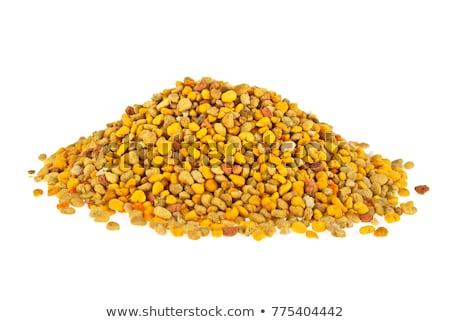 Bee pollen grains background stock photo © marimorena
