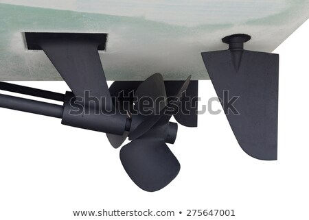 Hélice bateau isolé blanche fond métal Photo stock © smuki