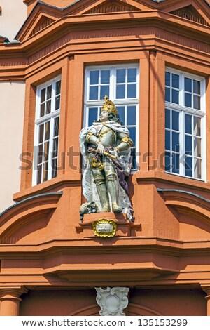 Chiffre chevalier entrée musée architecture ciel bleu Photo stock © meinzahn