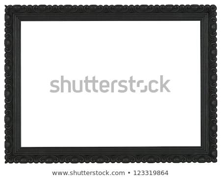 黒 金箔 フレーム 木製 木材 壁 ストックフォト © smuki