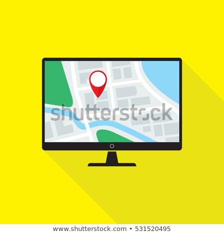 LCD suivre eps8 modernes ordinateur Photo stock © SolanD