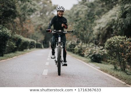 велосипедист · велосипедов · спорт · красный · черный · человек - Сток-фото © nickp37