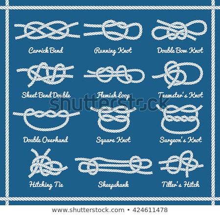 çift · düğüm · kullanılmış · iki · hatları - stok fotoğraf © danielbarquero