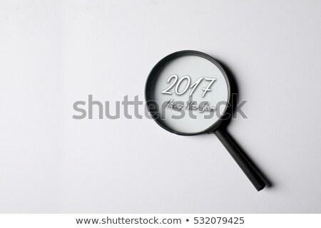 Idea - Blue 3D Word Through a Magnifying Glass. Stock photo © tashatuvango