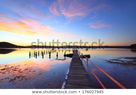 Nyugalom nyugalmas színes naplemente tükröződések víz Stock fotó © lovleah