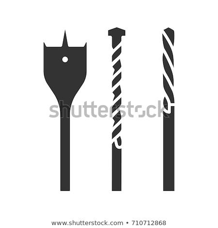 Três de um tipo bocado isolado branco indústria aço Foto stock © FOKA