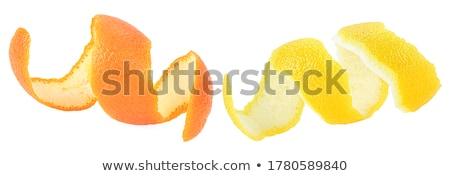 Stockfoto: Oranje · spiraal · schil · geïsoleerd · witte · ontwerp