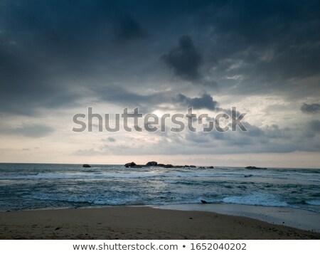 Esős felhők óceán égbolt víz textúra Stock fotó © Nejron