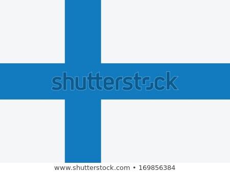 Zászló Finnország témák ötlet terv fehér Stock fotó © kiddaikiddee